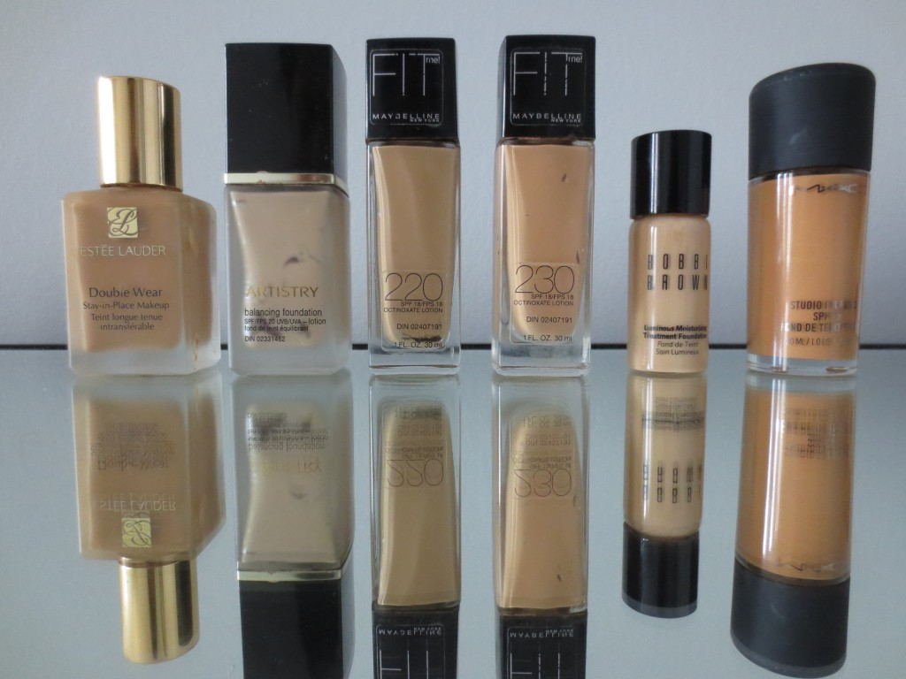 Liquid Foundations I Currently Use