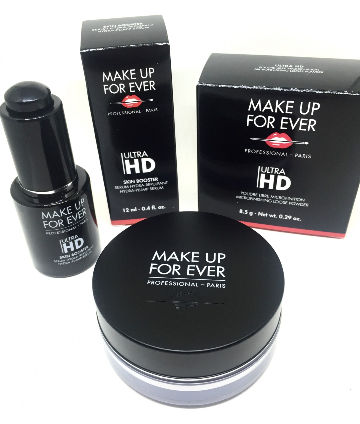 Make Up For Ever's Ultra HD Skin Booster Serum and Microfinishing Loose Powder