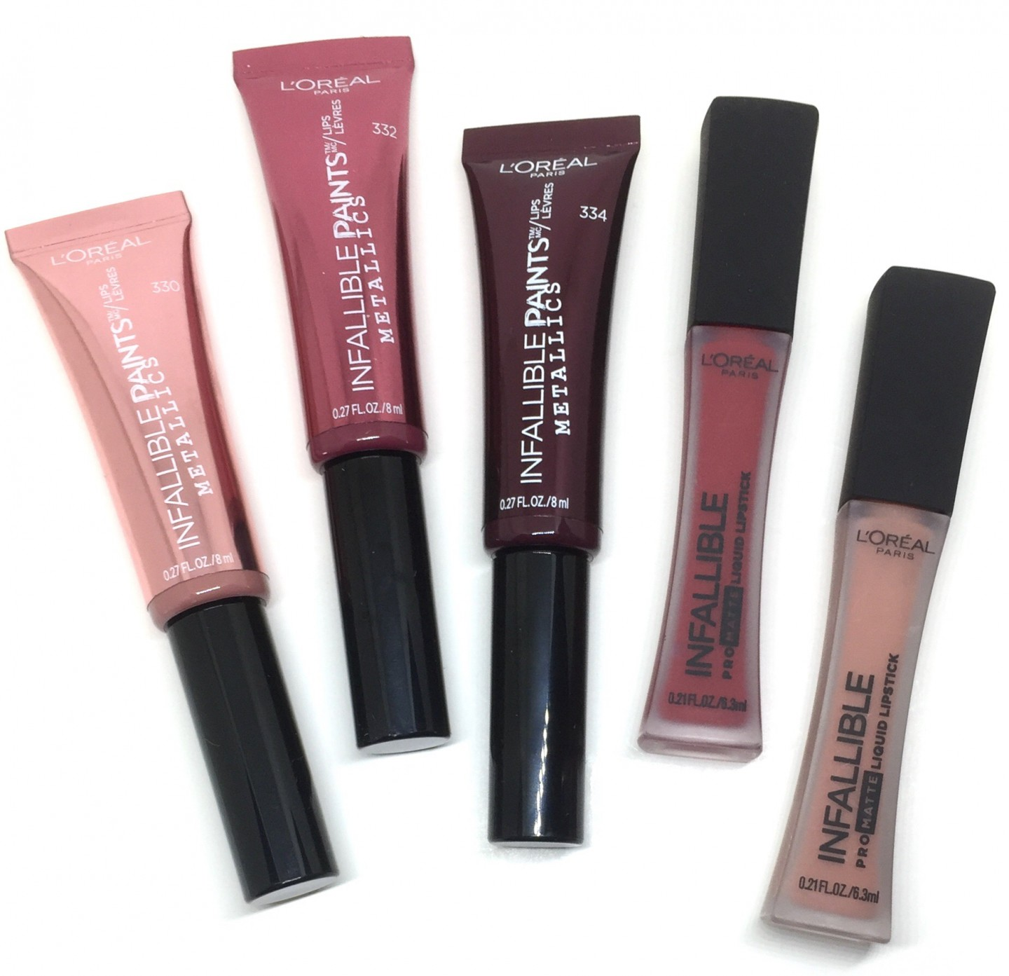 L'OREAL Infallible ProMatte Liquid Lipstick & Metallic Paints.