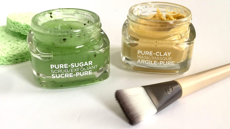 L'Oreal Pure Sugar Scrub & Pure Clay Mask
