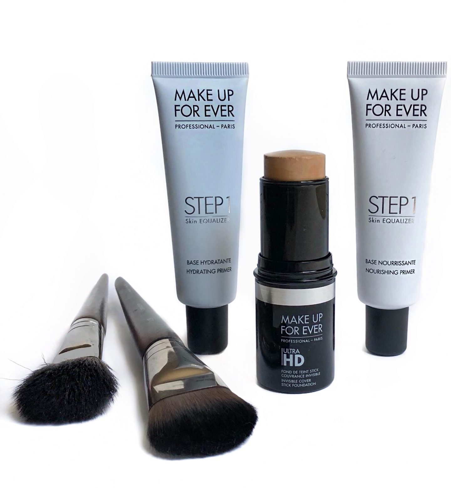 Make Up For Ever Ultra HD Invisible Cover Stick Foundation & Step 1 Skin Equalizer Primers