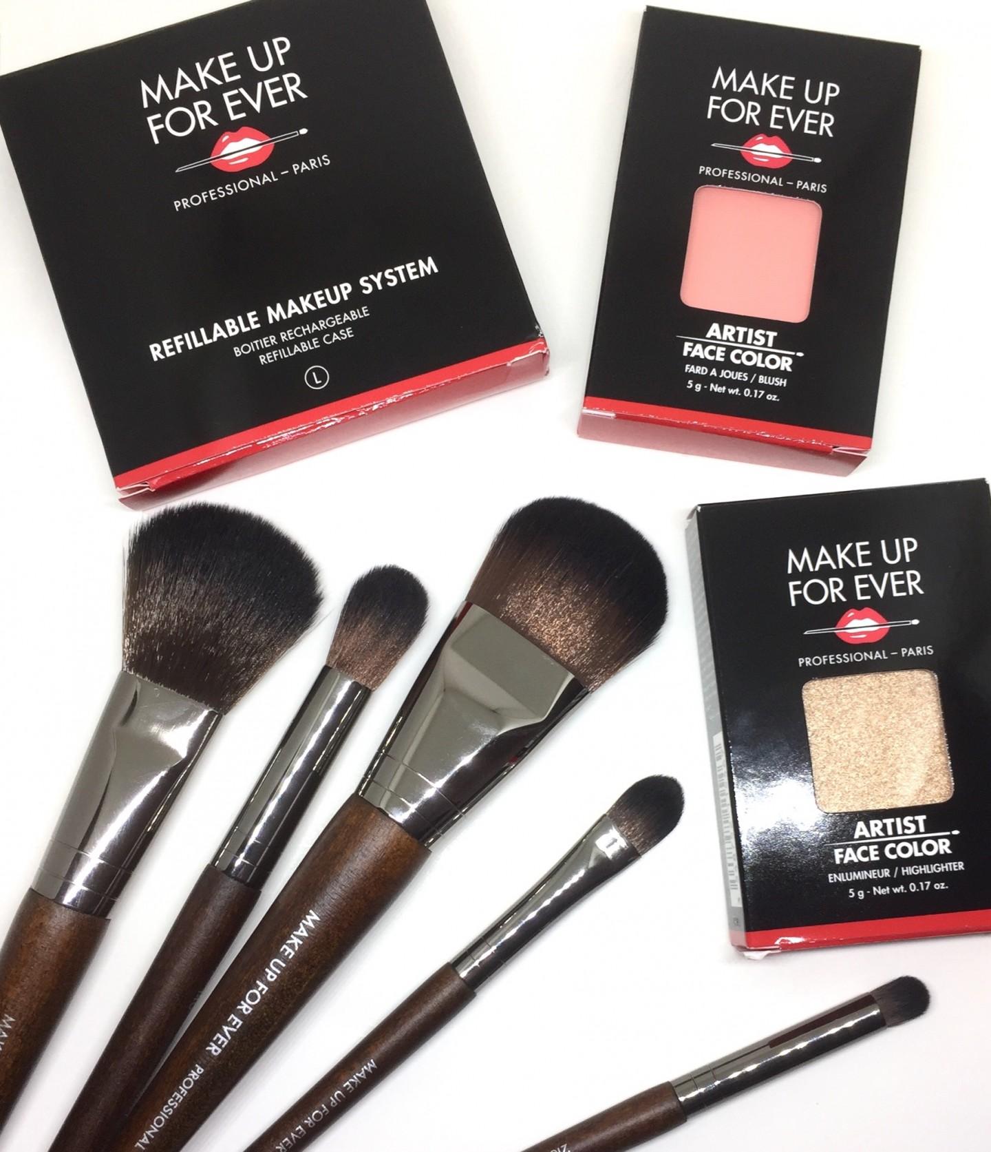 Make Up For Ever Artist Face Colour & Lustrous Brush Set