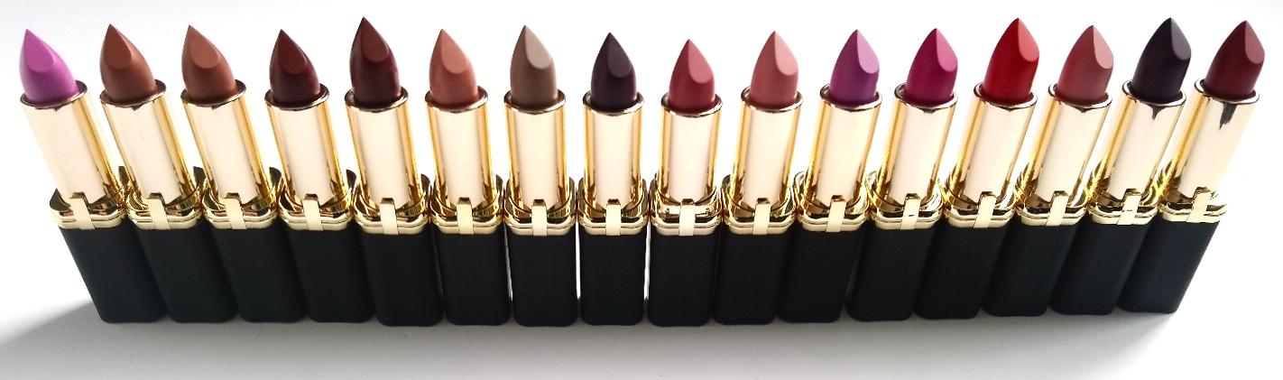 L'OREAL Colour Riche Matte Lipsticks